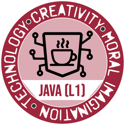 Westmont Center for Technology, Creativity and Moral Imagination Java Level 1 Badge